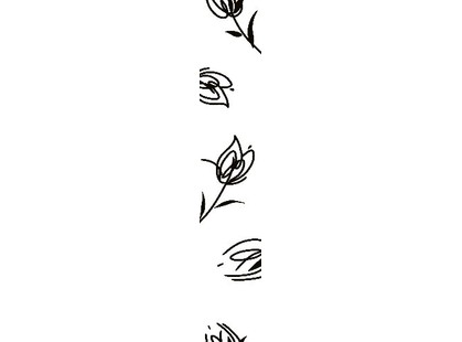 Halcon Ceramicas Blancos Tulipan Listello Blanco