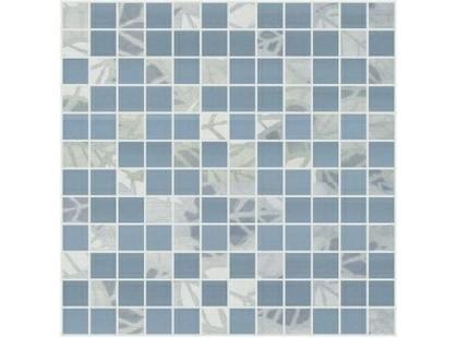 Halcon Ceramicas Cotton, Vega, Viola, Aquarela Mosaico Hojas Azul- Acuarela Perla