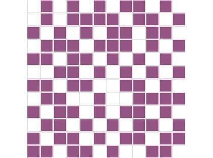 Halcon Ceramicas Diamante Mosaico Organza Blanco-Lila