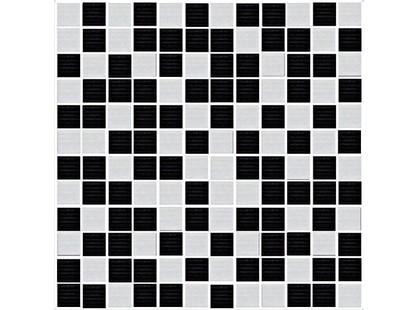 Halcon Ceramicas Fiore Mosaico Style Marfil-Negro