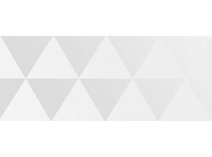 Ibero Black & White Décor Triangle White