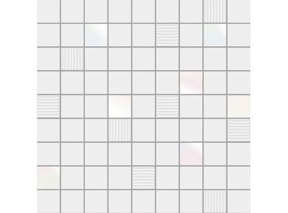 Ibero Black & White Mosaico Cubic White