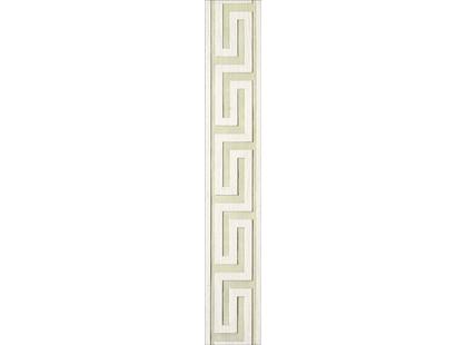 Infinity Ceramic Tiles Lava / Luxor / Palas Cenefa Greca Blanco