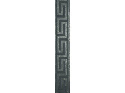 Infinity Ceramic Tiles Lava / Luxor / Palas Cenefa Greca Negro