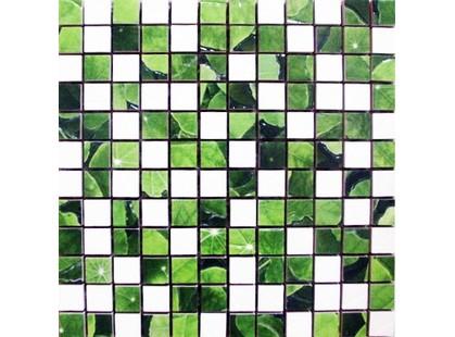 Infinity Ceramic Tiles Lotus Mosaico Blanco-Verde