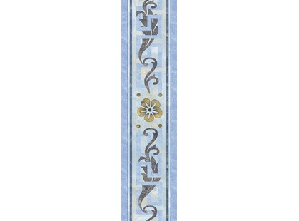 Infinity Ceramic Tiles Marmol Cenefa Greco Azul