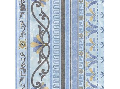 Infinity Ceramic Tiles Marmol Roseton Cenefa Azul