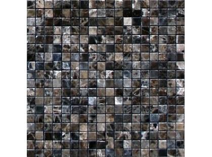 Infinity Ceramic Tiles Mosaico Marble Emperador Mosaico Base Dark