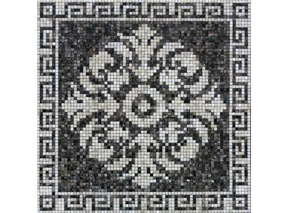 Infinity Ceramic Tiles Mosaico Marble Emperador Roseton Dark