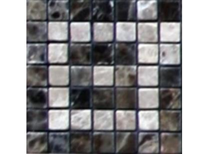Infinity Ceramic Tiles Mosaico Marble Emperador Taco Dark