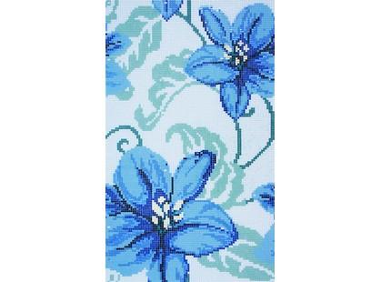 Infinity Ceramic Tiles Mosaicos Mosaico Fleurs Azul