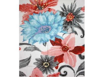 Infinity Ceramic Tiles Mosaicos Mosaico Soul Flower Azul