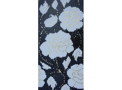Infinity Ceramic Tiles Mosaicos Mosaico Winter Flowers Oro Nero