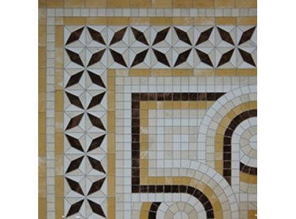Infinity Ceramic Tiles Ravenna Angolo Decor Giallo