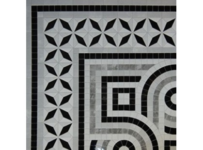 Infinity Ceramic Tiles Ravenna Angolo Decor Nero