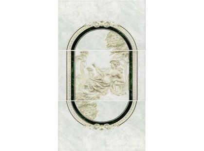 Интеркерама Пьетра П20011 Зелен.  Панно из 3-х плиток