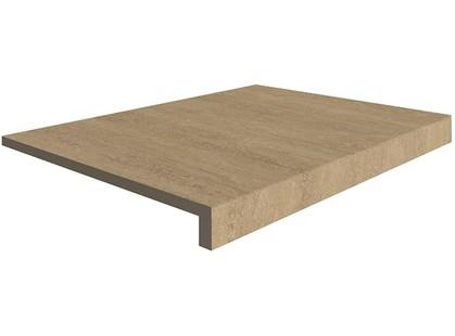 Italon Travertino Floor Project Scalino Frontale Noce