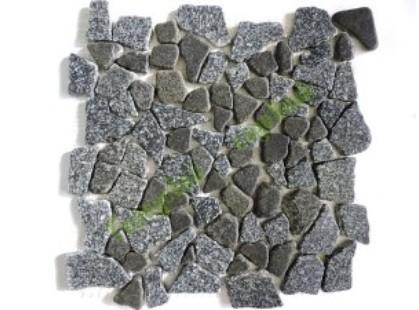 Каменная Китайская Мозаика Камень натуральный на сетке MS7005 IL ГРАНИТ пятнистый