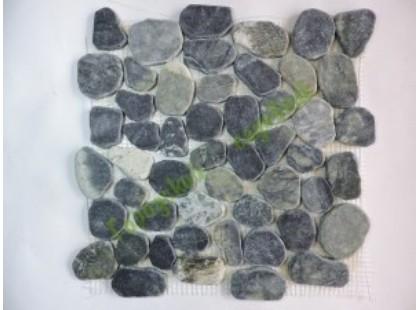 Каменная Китайская Мозаика Камень натуральный на сетке MS9002 BC МРАМОР серо-зелёный круглый