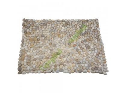 Каменная Китайская Мозаика Камень натуральный на сетке Коврик MS00-1S ГАЛЬКА слоновая кость