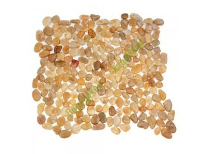 Каменная Китайская Мозаика Камень натуральный на сетке MS00-6SP ГАЛЬКА крупная песочно-глянцевая