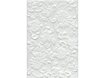 Kerama Marazzi Аджанта 8216 Цветы Белый матовая