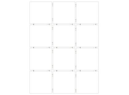 Kerama Marazzi Британия 1146T  Конфетти белый блестящий, полотно 30х40 из 12 частей 9,9х9,9 Глянцевая