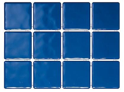 Kerama Marazzi Бриз 1243   синий, полотно из 12 частей 9,9х9,9 Глянцевая