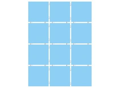 Kerama Marazzi Конфетти 1147T   голубой блестящий, полотно 30х40 из 12 частей 9,9х9,9 Глянцевая