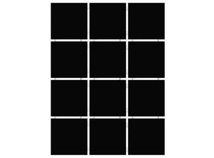 Kerama Marazzi Конфетти 1149 Черный Блестящий, Полотно 30х40 из 12 частей 9,9х9,9 Глянцевая