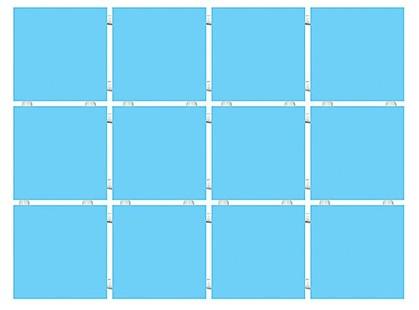 Kerama Marazzi Конфетти 1211T  Конфетти голубой, полотно 30х40 из 12 частей