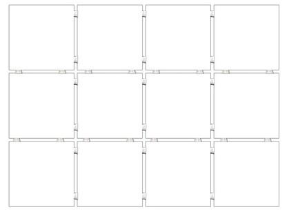 Kerama Marazzi Конфетти 1230 Белый, Полотно 30х40 из 12 частей 9,9х9,9 Матовая