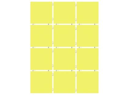 Kerama Marazzi Конфетти 1233T   желтый блестящий, полотно 30х40 из 12 частей 9,9х9,9 Глянцевая