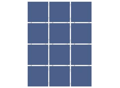 Kerama Marazzi Конфетти 1234   синий блестящий, полотно 30х40 из 12 частей 9,9х9,9 Глянцевая