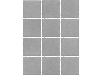 Kerama Marazzi Корсо 1245   серый, полотно 30х40 из 12 частей 9,9х9,9 Матовая