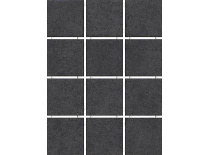 Kerama Marazzi Корсо 1250    черный, полотно 30х40 из 12 частей 9,9х9,9 Матовая