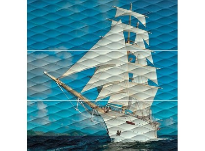Kerama Marazzi Майори Корабль  ALD/A01/3x/13025R (комплект из 3 плиток)