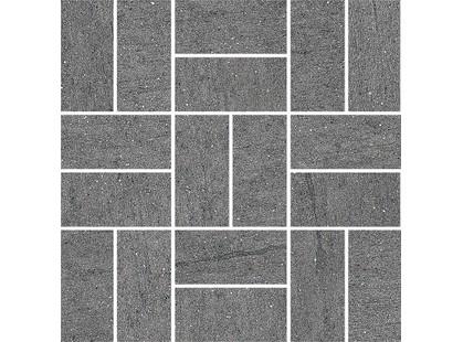 Kerama Marazzi Нью-Касл SG176\002 |  Cерый темный мозаичный