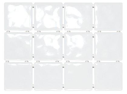 Kerama Marazzi Оранжерея 1236 Бриз Белый Полотно ( 12 плиток по 9.9x9.9)