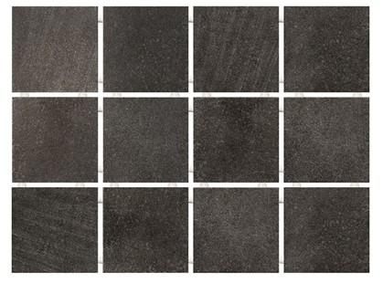 Kerama Marazzi Прованс 1222  Караоке черный, полотно 30х40 из 12 частей 9,9х9,9 Матовая