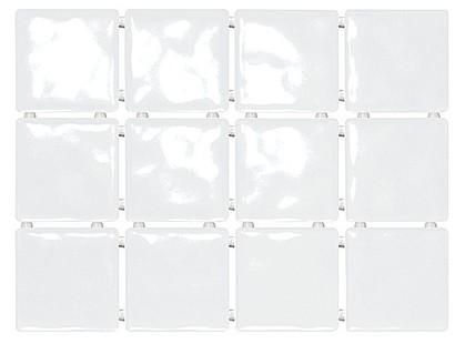 Kerama Marazzi Сезоны 1236  Бриз Белый, Полотно 30х40 из 12 частей 9,9х9,9 Глянцевая