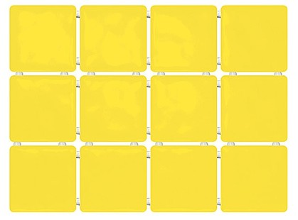 Kerama Marazzi Сезоны 1238  Сезоны желтый, полотно 30х40 из 12 частей 9,9х9.9 Глянцевая
