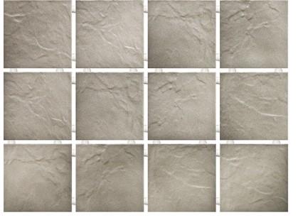 Kerama Marazzi Юката 1143   Серый, Полотно 30х40 из 12 частей 9,9х9,9 Матовая