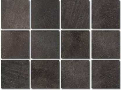 Kerama Marazzi Зарянка 1222   Караоке черный, полотно 30х40 из 12 частей