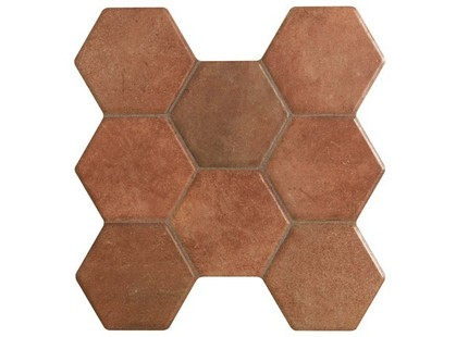 Kerlife ceramicas Hexagonal Pav. Castilla Marron
