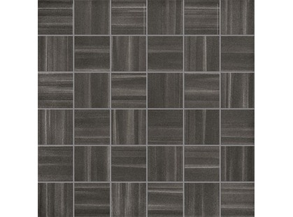 La Fabbrica Ceramiche Fifth avenue Mosaico Stripes Black Chic Lapp. E Rett.