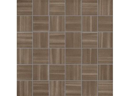 La Fabbrica Ceramiche Fifth avenue Mosaico Stripes Chocolate Lapp. E Rett.