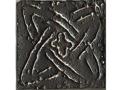 La Fabbrica Ceramiche Pietra lavica Metal Black Mix 3 5,5x5,5