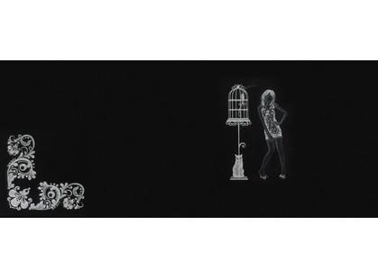 La Platera Black & White Dec. Parrot   Negro