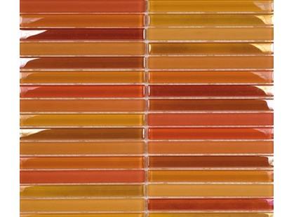L`antic colonial Glass Mosaics Mix Metalic Mos.Naranjas 1,5x14,8 Malla